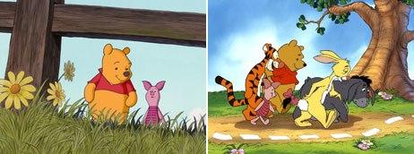 Pooh's feature career flourished with several films including, Pooh's Grand Adventure: The Search for Christopher Robin in 1997 (right) and Piglet's Big Movie in 2003.