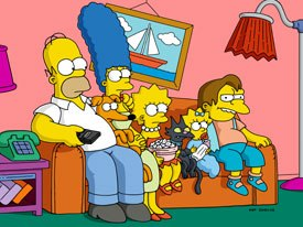 The Simpsons is doing drawings, flipping paper and using key pose the way the classic animation was done. It's become the Unplugged of animation. ™ & © 1999 20th Century Fox Film Corp. All rights reserved. Cr: Fox.