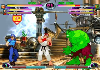 Every character in Marvel vs Capcom 2 has at least one super maneuver. Most have two, some have three. Courtesy of Capcom.