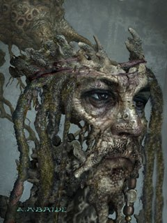 ILM took on 750 of the most difficult shots, including work on Captain Jack Sparrow's bizarre hallucination as the wall encrusted member of The Flying Dutchman. The hard part was getting all the texture and doing all the paint work.