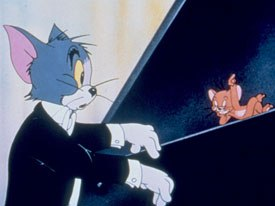 The Hanna-Barberassic Age signaled the law of economy. Only one part of characters bodies moved and details on Tom of Tom and Jerry were eventually streamlined. © Warner Bros. All rights reserved.