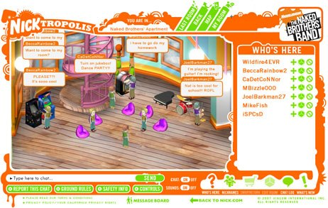 MTVNs Nicktropolis is a cross between gaming, video and social networking for kids. Launched earlier this year, it generated almost four million registered users in four months. © Nickelodeon Digital Media.