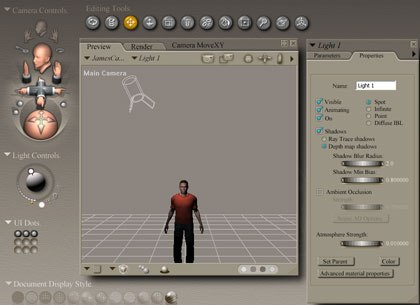 [Figure 5] Spotlight focused on the figure's head.