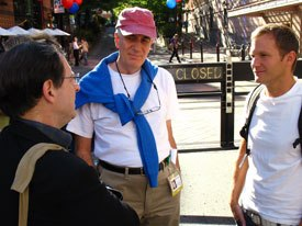 Jerry Beck, John Canemaker and Pat Smith talk shop.
