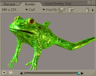 [Figure 9] Simple green materials on a frog figur