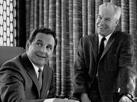 It is unlikely that Bill Hanna (right) and Joe Barbera were interested in impeding the repeal of segregation. They were careful throughout the 1960s to integrate black characters into their cartoons. Courtesy of Warner Bros. Animation.
