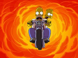 After 400+ TV episodes, The Simpsons come roaring onto the big screen. All images © 2007 Twentieth Century Fox Film Corp.