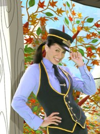 Music-based interstitials include pop singer Genevieve performing up-tempo numbers against a CGI background in Disney Playhouse's Choo-Choo Soul.
