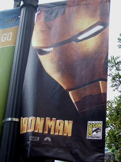 Iron Man was everywhere at the event, making a big impression with the 150,000 plus people in attendance.