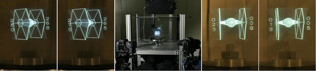 The Interactive 360-Degree Light Field Display is being developed by the USC Institute for Creative Technologies. All images courtesy of ACM SIGGRAPH 2007.