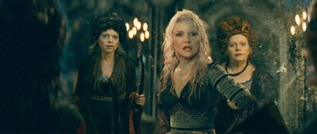 Ugly old witches miraculously transform into Michelle Pfeiffer. Courtesy of LipSync Post.