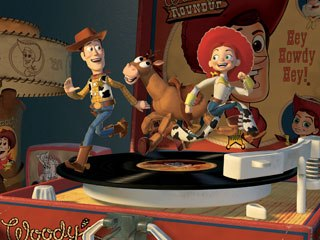 AJ started at Pixar as a PA on Toy Story 2. © Disney/Pixar.