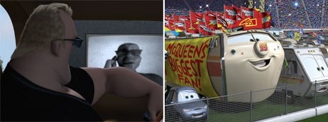 Reibli voiced Edna's bodyguard in The Incredibles and the RV in Cars. © Disney/Pixar.