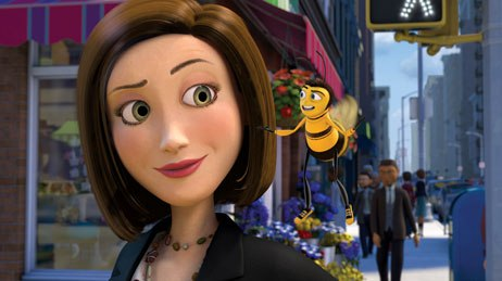Performers like Bee Movie's Renee Zellweger and Jerry Seinfeld bring acting and comic talents in addition to their name value. © DreamWorks Animation.