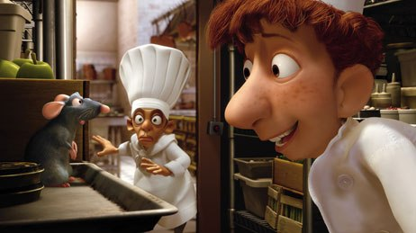 Ratatouille brings advanced animation acting to humans and rodents alike. © Disney-Pixar.