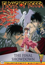 The true heir of Hokage ninja clan is decided in The Flame of Recca Vol. 10 The Final Showdown, concluding the series once and for all.