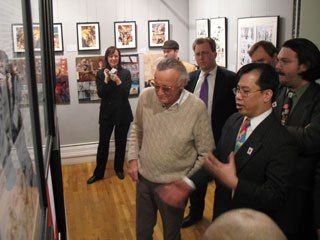 The Museum of Comic and Cartoon Art in New York City regularly has exhibits related to animation and hosts special events like this reception for Stan Lee. Courtesy of MoCCA.