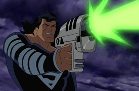 The story follows a natural three-part arc, and three different directors were involved in animating those sequences -- Brandon Vietti, Lauren Montgomery and Bruce Timm.
