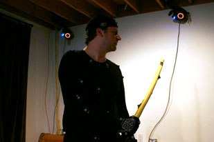 Brad Friedman, Technical Director of Pixel Liberation Front works in the studio's MoCap space. Courtesy of PLF.