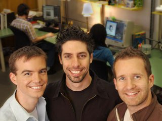 Left to right, Shawn Kelly, Carlos Baena and Bobby Beck, cofounders of Animation Mentor, at the school's Berkeley administrative headquarters.
