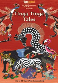 Tinga Tinga Tales collects African folk tales on the origins of all the animals and combines these with powerful designs drawn from the Tinga Tinga traditions of East Africa. © Tiger Aspect Prods.