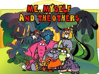 Me, Myself and the Others, a fantasy series about a group of jungle animals confronting human situations, is the product of an Italian-German co-production. © RAI Fiction-Enanimation-Motus-Motionworks.