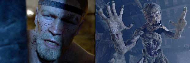 Beowulf (left) and Grendel (right) were challenges. Beowulf looked nothing like the actor who portrays him while Imageworks used RenderMan shaders for Grendels skin.