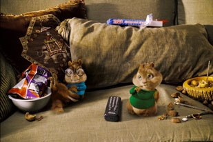 Although the behavior of the movie chipmunks is stylized, R&H dialed it down a notch from cartoon animation.