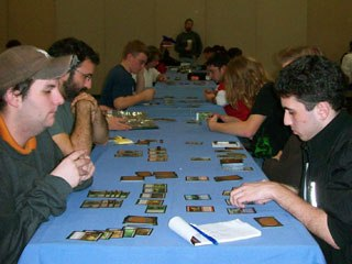 The vast gaming hall was a popular attraction at the festival. Contestants for the