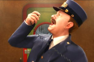 In Polar Express, animated characters resemble Tom Hanks, which exacerbates the Uncanny Valley situation. © 2004 by Warner Bros. Ent. Inc.