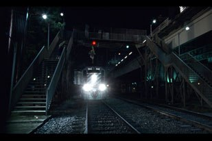 One way of making stunt work safer is to take the danger out of the shot, which is on display in this scene with a CG train.