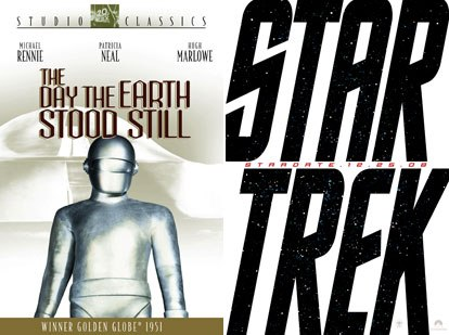 Noteworthy vfx is expected in the remake of The Day the Earth Stood Still and details on the new Star Trek are under wraps. Courtesy of Paramount Pictures (r).