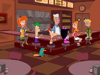The series borrows from Tex Avery and the graphic style of his later cartoons. Phineas and Ferb features geometric shapes in the characters and the background design that give the show a visual/thematic through line.