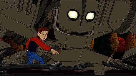 The Iron Giant got the shaft as far as publicity and screenings were concerned. It became a belated cult favorite on DVD, but would have held its own if nominated for an Oscar. Courtesy of and © 1999 Warner Bros.