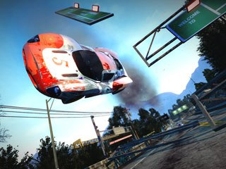 Graphically, Burnout Paradise is amazing; the cars are impressive, especially when their paint jobs are customized. Players get an outrageous sense of speed from the perfect framerate. Courtesy of Electronic Arts.