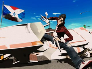 In No More Heroes, you play as Travis Touchdown, who lives an anime, punk-rock lifestyle before becoming an assassin. Soon Travis has to take out the world's top 10 assassins. Courtesy of Ubisoft.