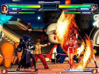 In addition to an awesome offensive system, NeoGeo Battle Coliseum has an interesting defensive system. Courtesy of SNK Playmore.