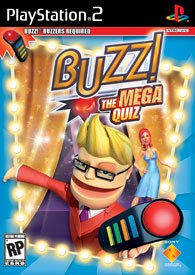 Pizza pie for everyone! Buzz! The Mega Quiz players who answer a question correctly are allowed to throw a pie at an opponent of their choosing or at themselves if they like.
