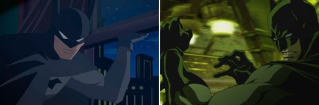 WonderCon offered advanced looks at Justice League: The New Frontier (left) and Batman: Gotham Knight. © Warner Bros. Home Video.