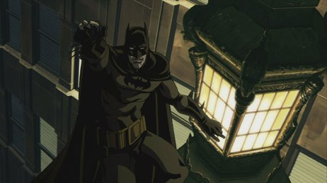 The anime-influenced Batman: Gotham Knight is previewed on the New Frontier DVD.