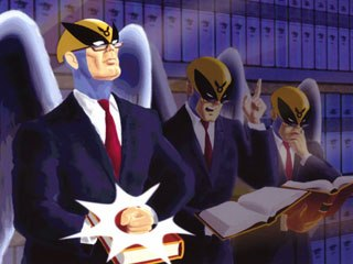 Famous Hollywood barrister Harvey Birdman considers his options after being disbarred. © Cartoon Network.