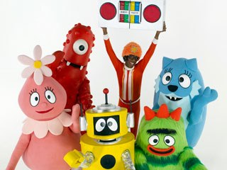 Yo Gabba Gabba! continues to be a wild success both on television and on toy shelves. Photo credit: Ben Clark/Nick Jr./™ & © 2007 GabbaCadabra LLC.