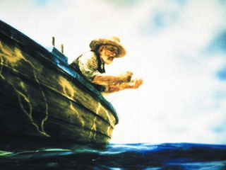 The first collaboration between Roger and Petrov was The Old Man and the Sea, which also received an Oscar nomination. © Pascal Blais Prods. Inc., Imagica Corp., Panorama Film Studio of Yaroslavl.