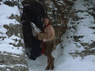 Blending human actors with digital beings presents on-set and post challenges. In the last Narnia film, faun legs were used on-set (above). This time the cast wore blue tights that were digitally replaced in post.