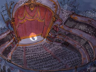 To get an environment of high formality, the filmmakers looked at the London Opera House, the Paris Opera House and classic vaudeville theaters like the Geary in San Francisco for set design ideas.