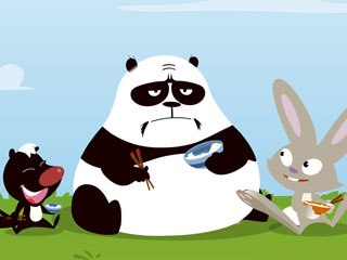 Panda and Skunk have a kind of Karate Kid relationship, while Rabbit is a deceptively cute-looking warrior.
