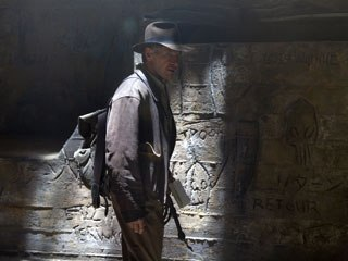 The previs for the caves and the Akator pyramid at the end were dramatically changed onset by Spielberg.