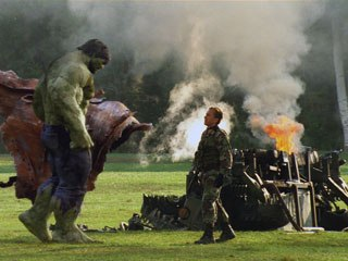 In charge of creating both the Hulk and his arch nemesis, Abomination, Rhythm & Hues mostly used a proprietary pipeline to produce the shots, except for some modeling in Maya and effects in Houdini.