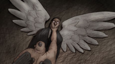 Bill Plympton's fourth feature Idiots and Angels received a Special Mention. © Plympton Studio.