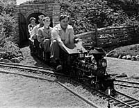 Walt Disney's lifelong fascination with trains eventually led him to build his own fully-functioning mini-railroad in the backyard of his own home. © Disney. All rights reserved.